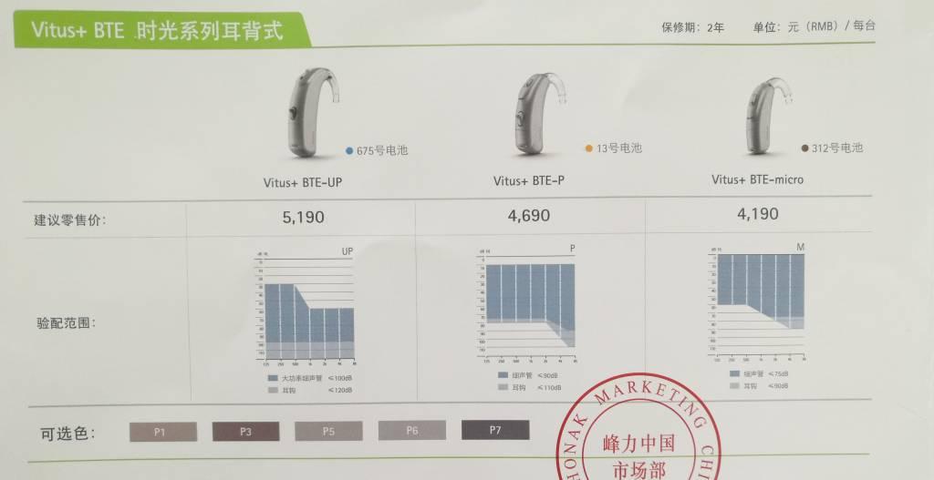 峰力助听器时光系列耳背机